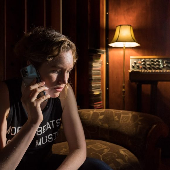 Imogen Sage behind the scenes in Dark Noise